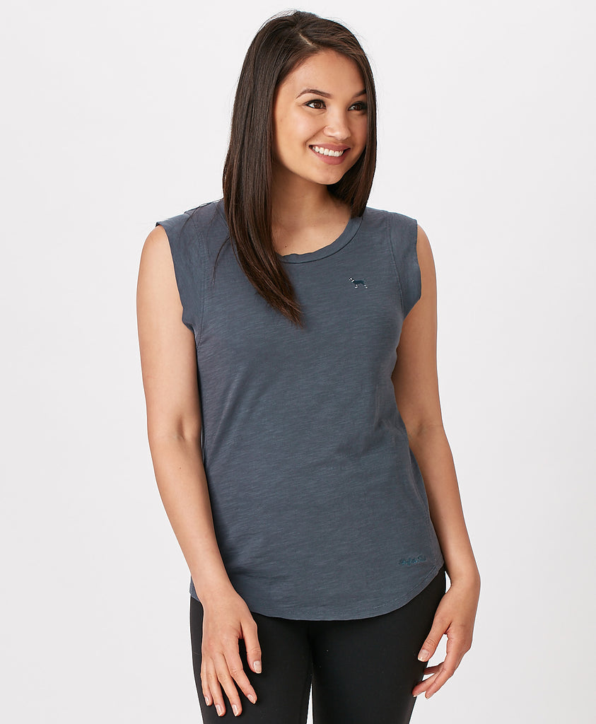Ladies Vintage Pure Sleeveless Tee