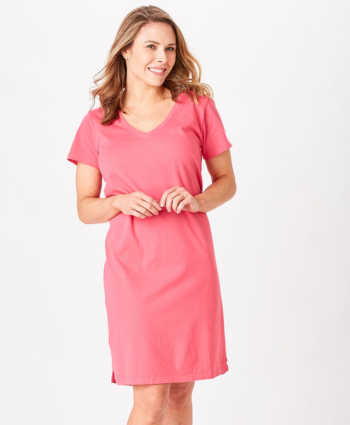 Ladies Classic Vneck Tee Dress