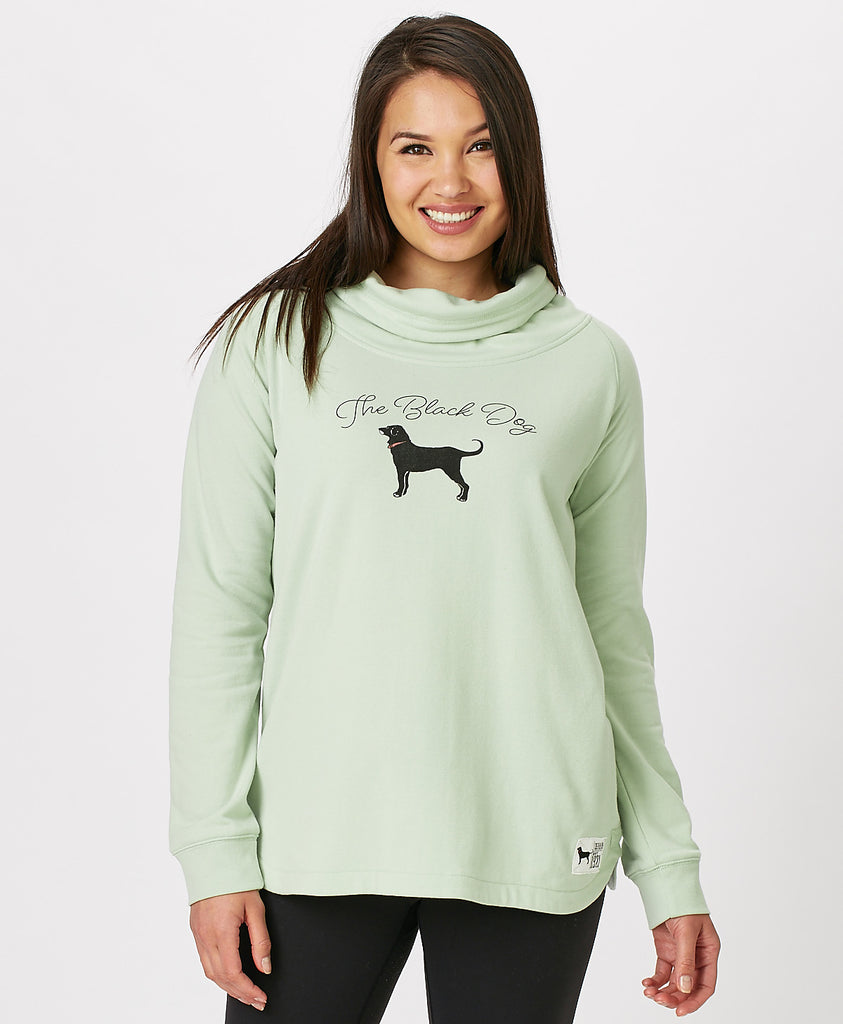 Ladies Vintage Cowlneck Sweatshirt