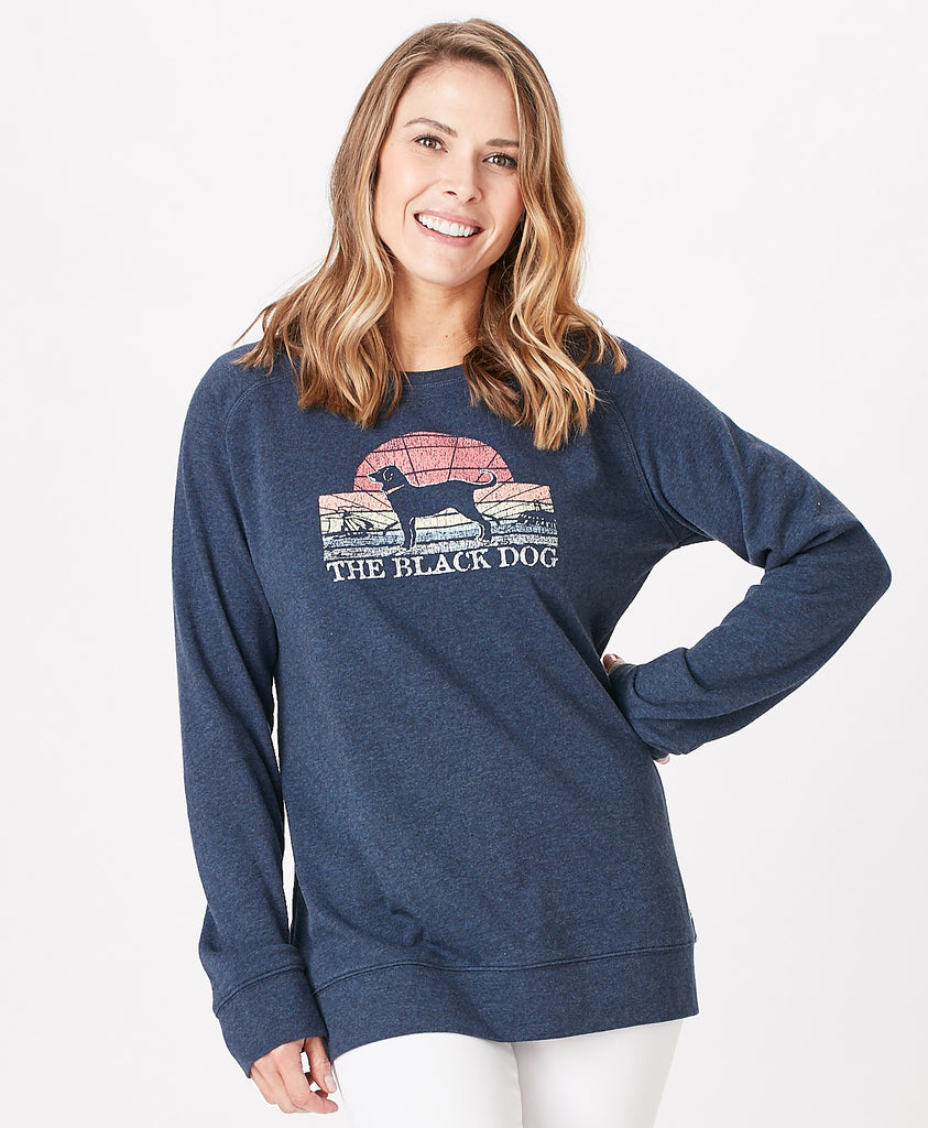 Ladies Vintage Crew Sweatshirt