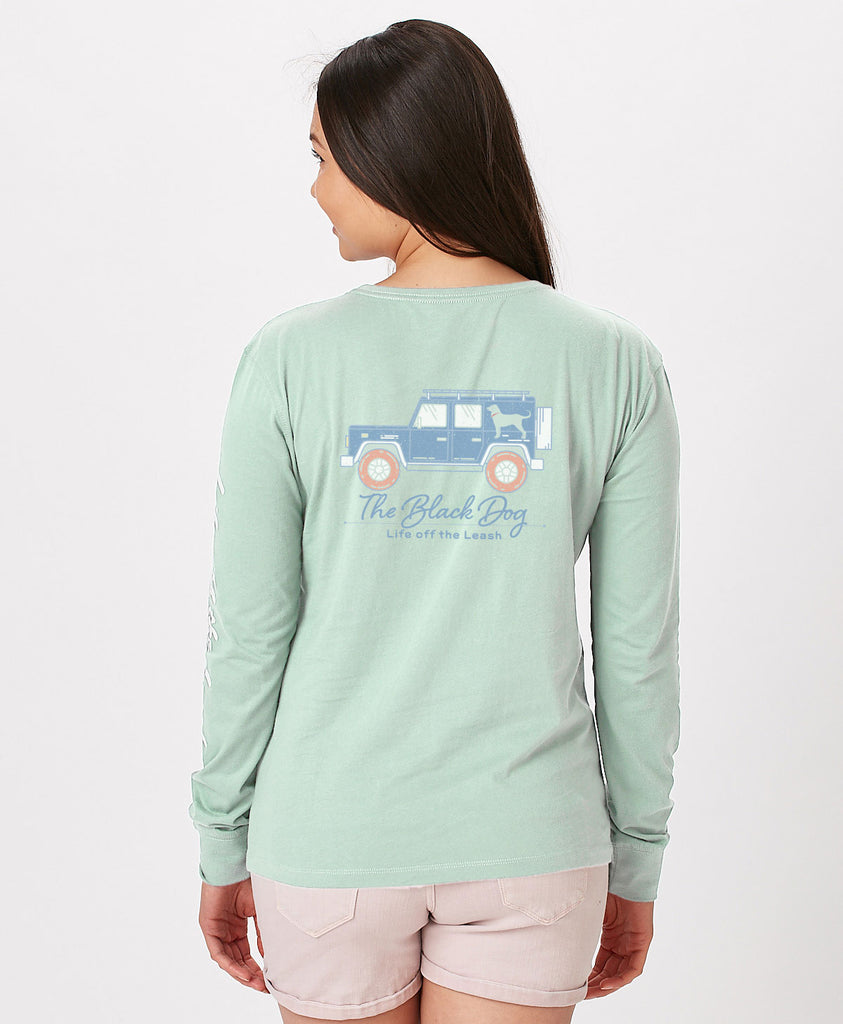 Ladies Cute Jeep Longsleeve Tee