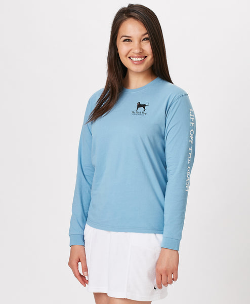 Ladies Dogs on Dock Longsleeve Tee