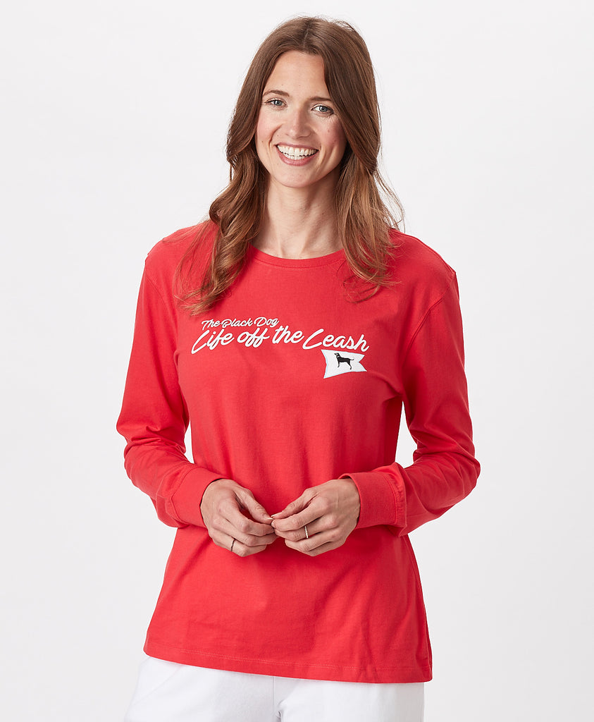 Ladies Life off the Leash Burgee Longsleeve Tee