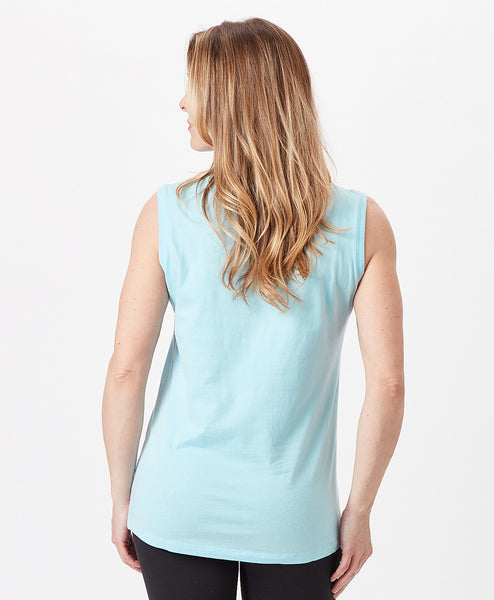 Ladies Classic Sleeveless Vneck Tee