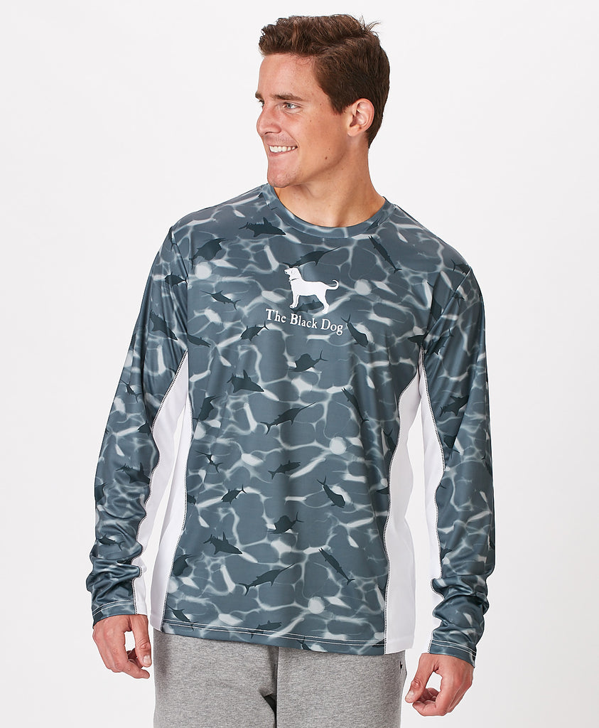 Mens Outfitters Longsleeve All Over Tech Tee