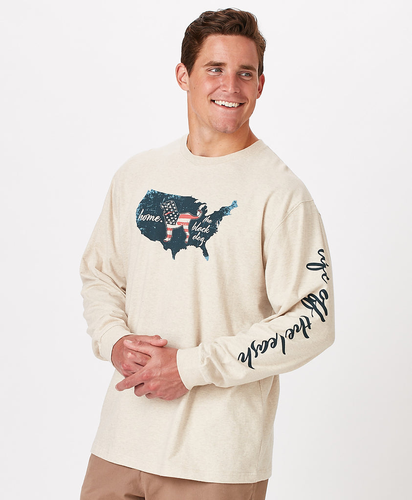 Mens Home Country Longsleeve Tee