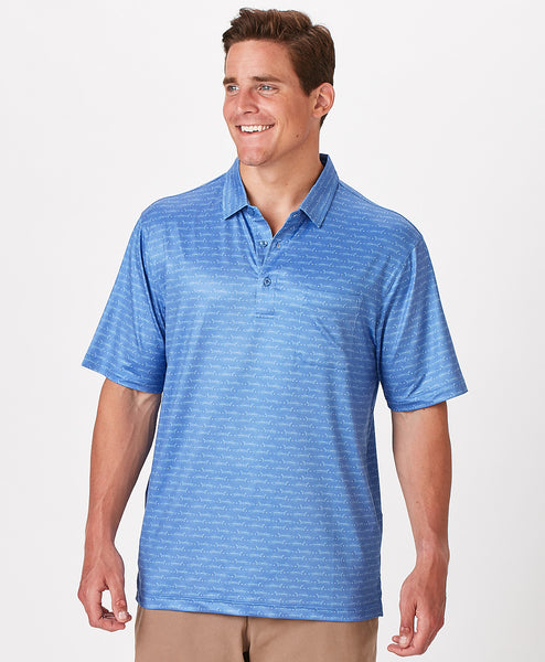 Mens Beachfront Fish Polo