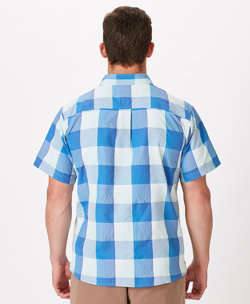 Mens Outfitters Plaid Shortsleeve Tech Shirt