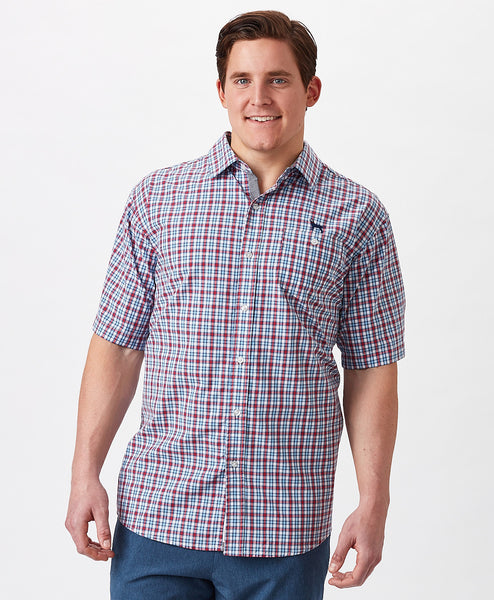 Mens Beachfront Plaid Shirt