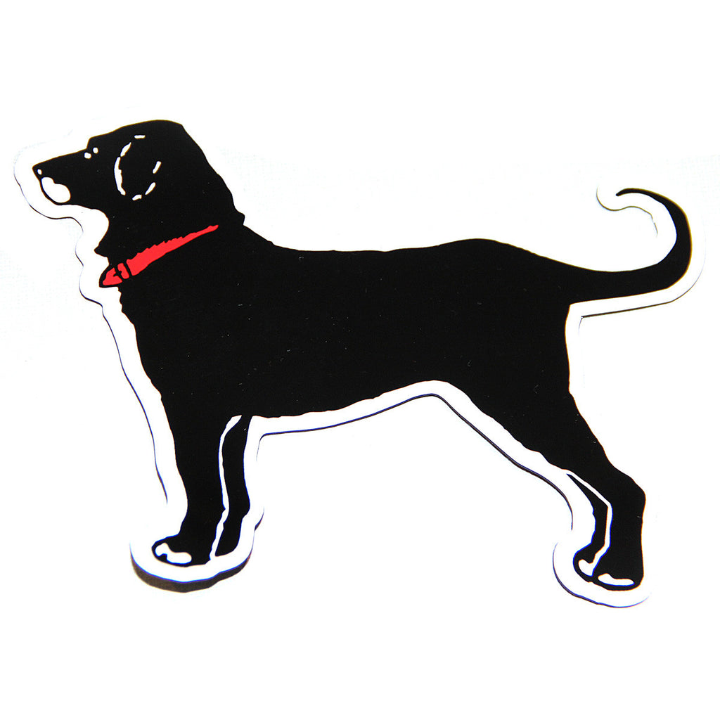 CLASSIC BLACK DOG CAR MAGNET