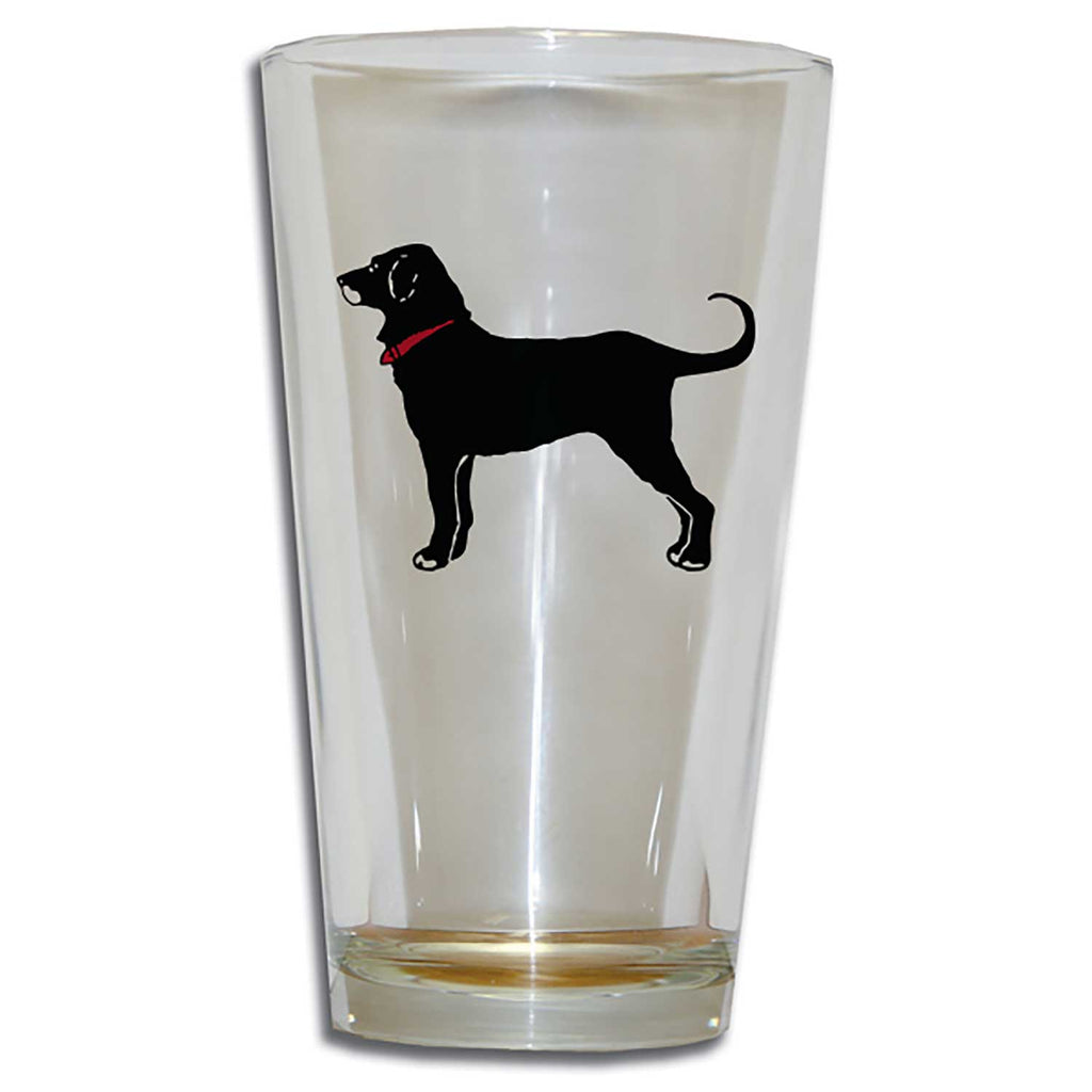 Black Dog Tall 20oz Tavern Glass
