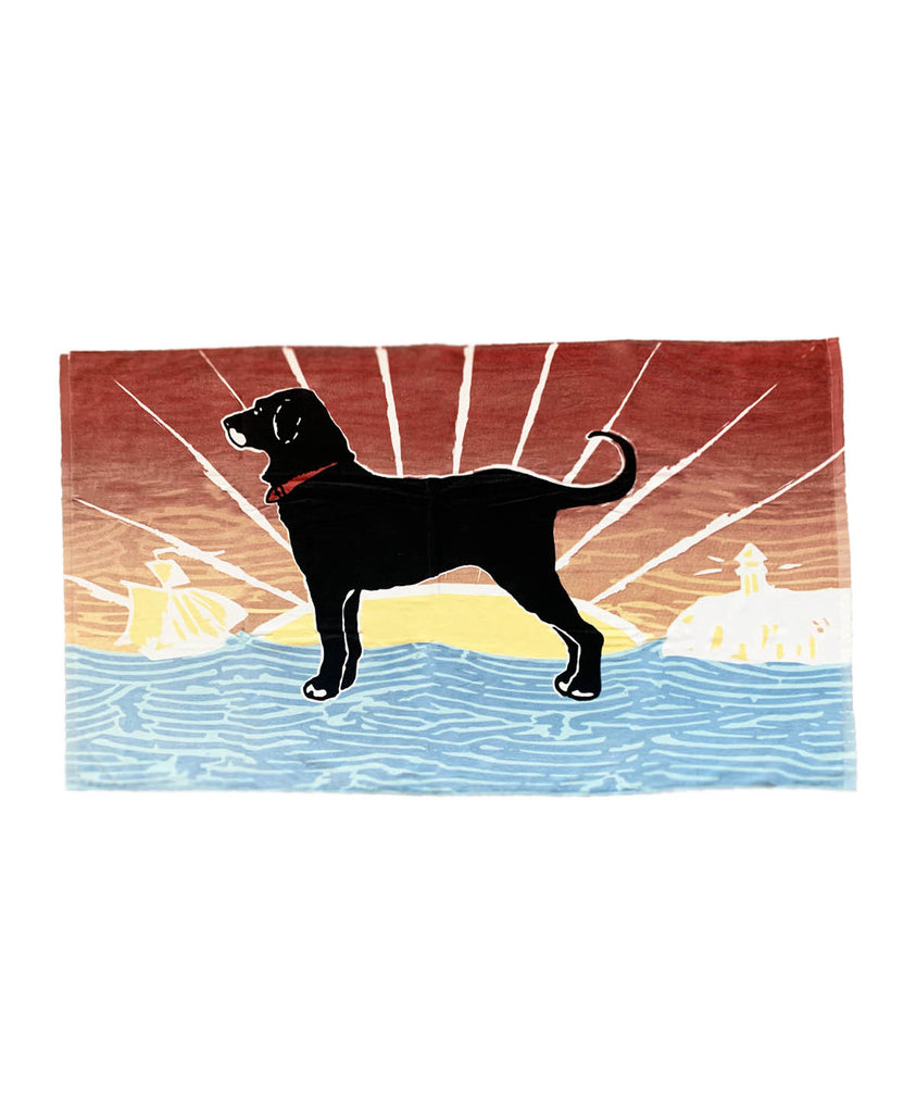 Sunrise Dog Beach Towel