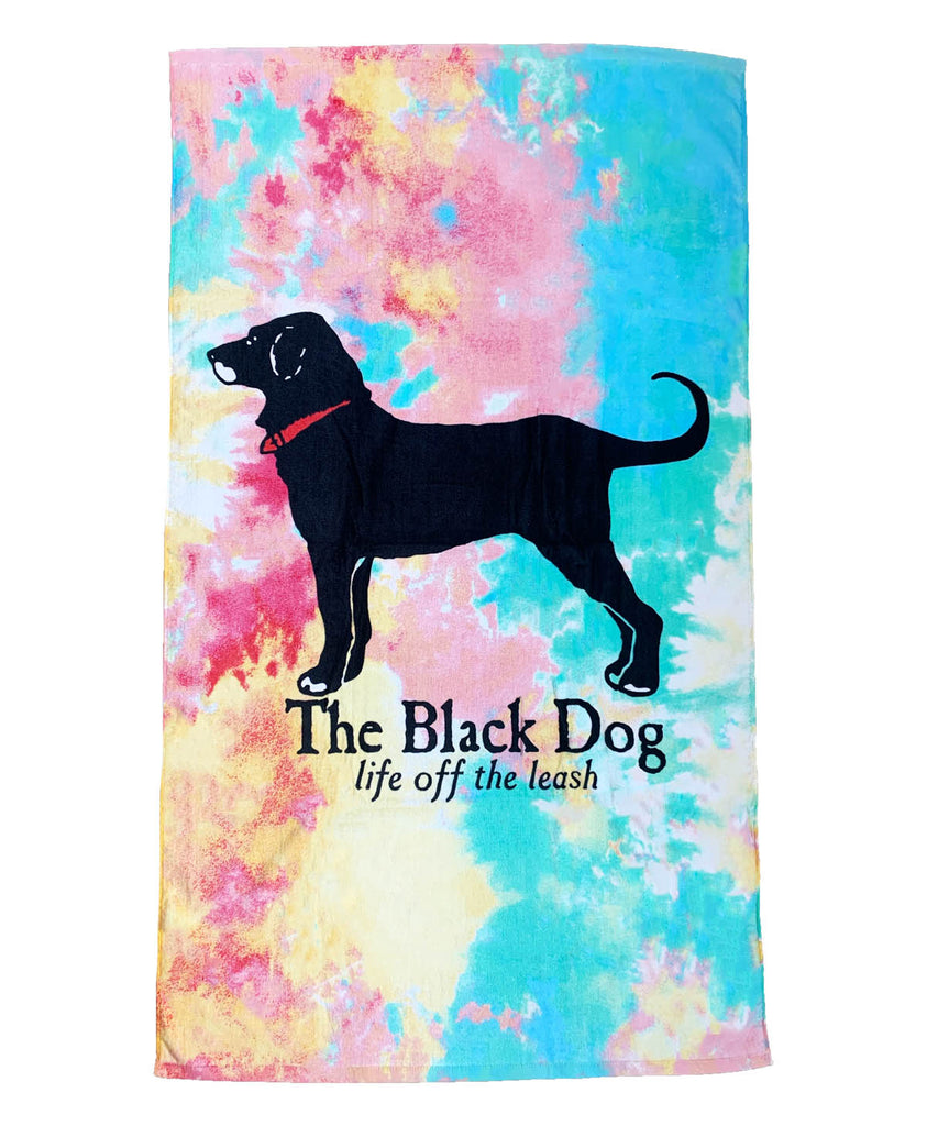 Tie Dye Dog Beach Towel
