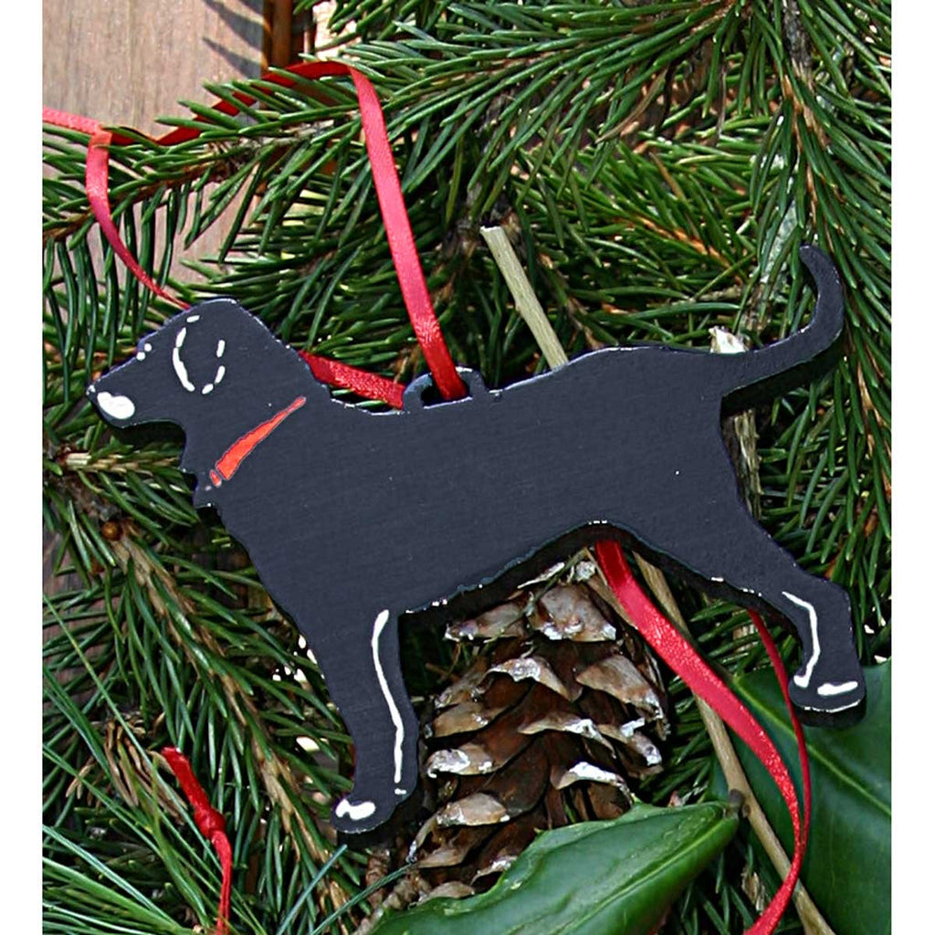 "WOOD DOG 3"" ORNAMENT"