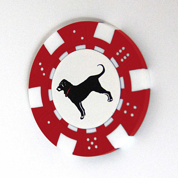 BLACK DOG GOLF POKER CHIP