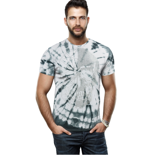 HTTS-29231-MEN'S MULTI COLORED STONE T-SHIRT