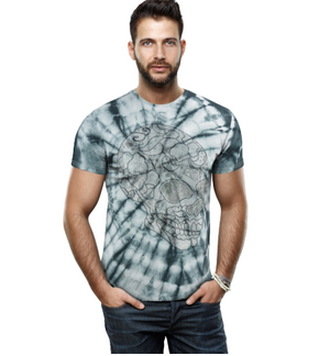 HTTS-29232-MEN'S MULTI COLOR STONE TEES