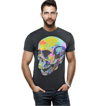 HTTS-29270-MEN'S MULTI COLORED GRAPHIC T-SHIRT