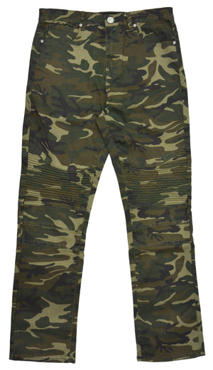 BXP-96107 | XRAY Slim Fit Biker Pants for Boys Skinny Moto Jeans Camo