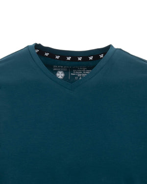 XMTS-2641 | MEN'S V-NECK T-SHIRT, TEAL
