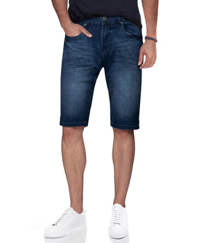 CMS-98307 | Men's Stretch Denim Shorts, Medium Wash Blue