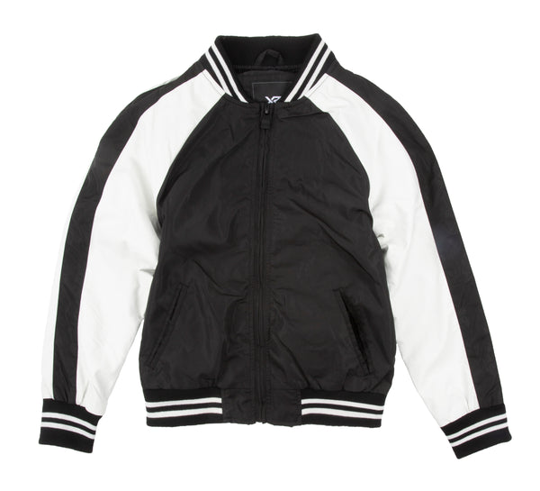 KXJ-87008 | Little Boys Varsity Jacket (Size 4 - 7)