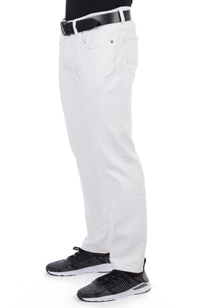 CMP-98077| Clean Belted Black/White Jean