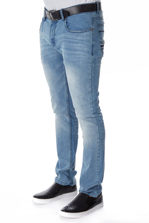 CMP-98081| Clean Belted Light Blue Jean