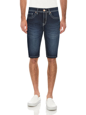 CMS-99084-MEN'S SADDLE STITCH DENIM SHORT