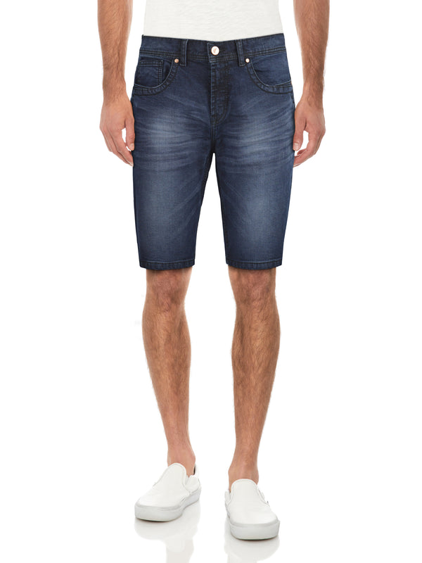 CMS-99086-MEN'S SADDLE STITCH DENIM SHORT