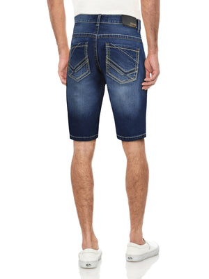 CMS-99256-MEN'S SADDLE STITCH DENIM SHORT