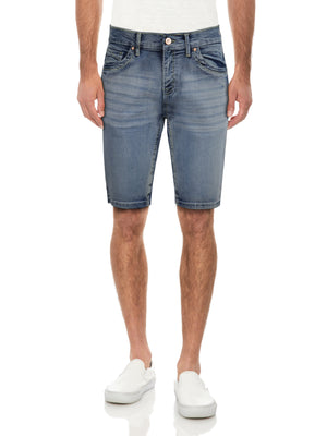 CMS-99304-MEN'S SADDLE STITCH DENIM SHORT