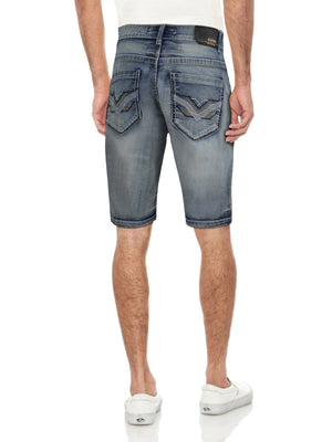CMS-99305-MEN'S SADDLE STITCH DENIM SHORT