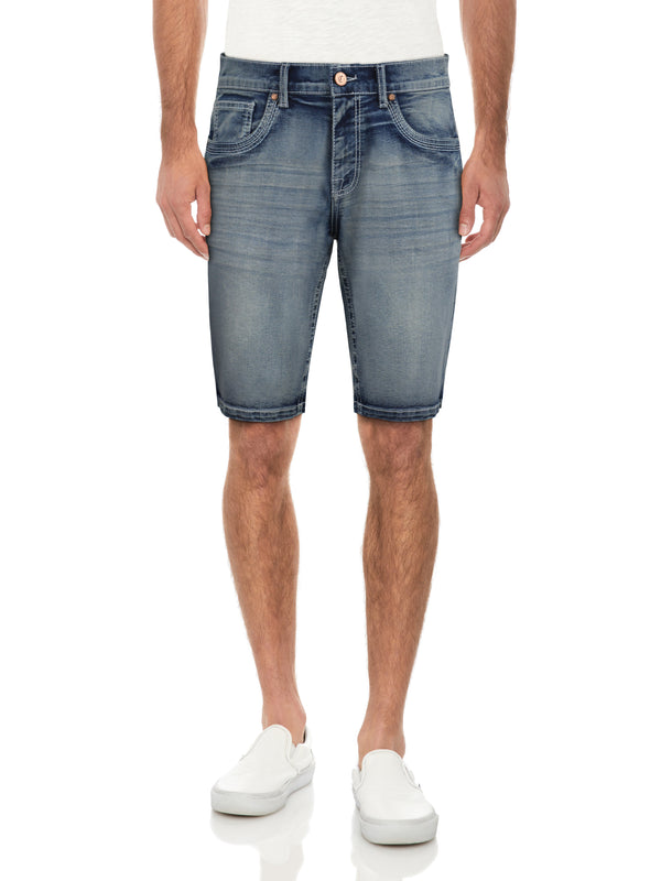 CMS-99306-MEN'S SADDLE STITCH DENIM SHORT