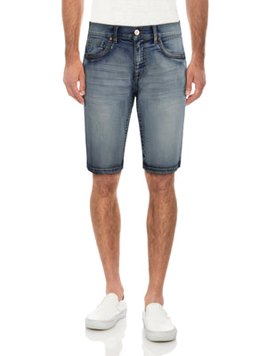 CMS-99307-MEN'S SADDLE STITCH DENIM SHORT