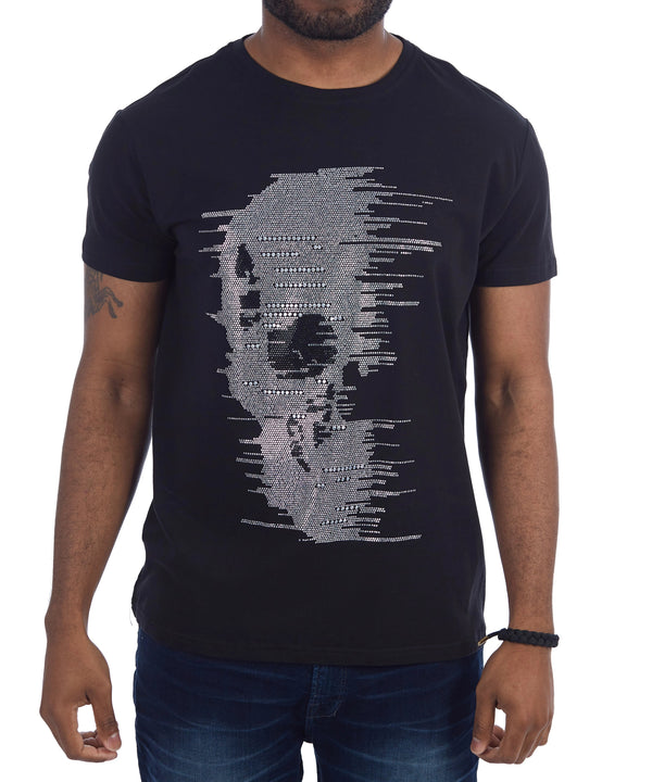 HTTS-28203 | Pixelized Skull Tee