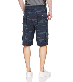 RMS-19021 | BELTED CARGO SHORTS WITH STITCHED DOUBLED POCKETS