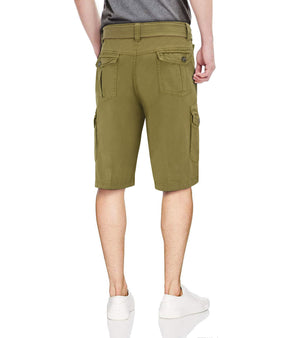 RMS-19025 | BELTED CARGO SHORTS WITH SNAP CLOSURE