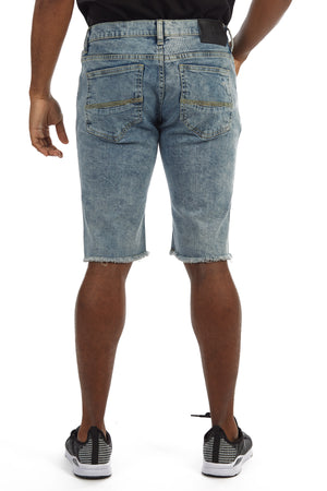 XMS-98338-MEN'S DISTRESSED FRAYED DENIM SHORT