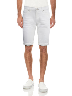 XMS-99269-MEN'S ROLL CUFF DENIM SHORT