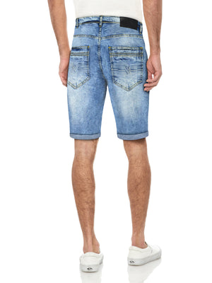 XMS-99270 | MEN'S DOUBLE STITCH POCKET DENIM SHORT