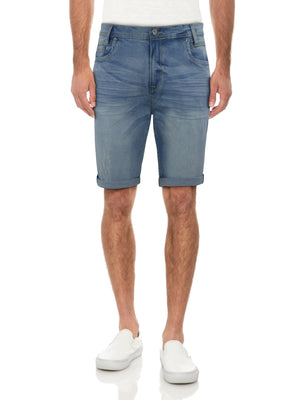 XMS-99272 | MEN'S LIGHT WRINKLED DENIM SHORTS