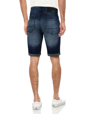 XMS-99276 | MEN'S CLEAN STITCH DENIM SHORTS