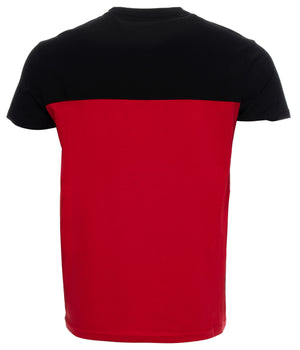 XMTS-27005 | Color Block V-Neck Short Sleeve T-Shirt