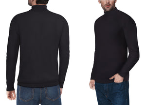 XMW-38087 | Classic Turtleneck Sweater Black