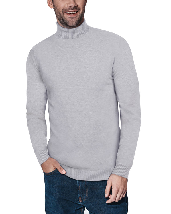 XMW-38087 | Classic Turtleneck Sweater Light Heather Grey