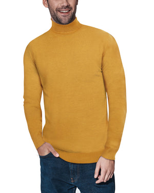 XMW-38087 | Classic Turtleneck Sweater Mustard