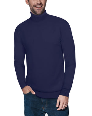 XMW-38087 | Classic Turtleneck Sweater Navy