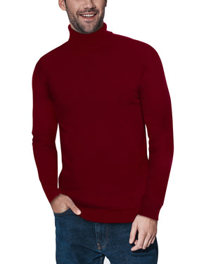 XMW-38087 | Classic Turtleneck Sweater Oxblood