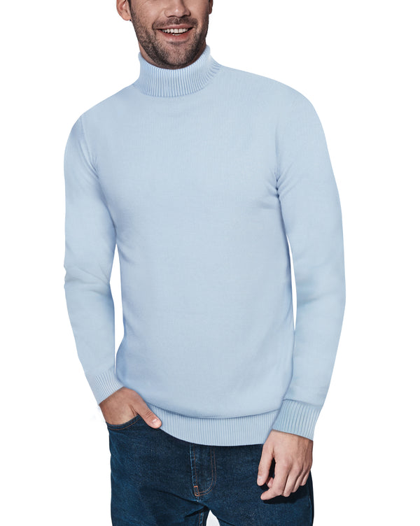 XMW-38087 | Classic Turtleneck Sweater Powder Blue